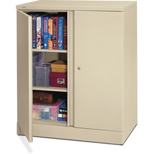 BSX C184236L Basyx ETA Putty Adj. Shelves Storage Cabinet BSXC184236L