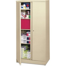 BSX C187236L Basyx ETA Putty Adj. Shelves Storage Cabinet BSXC187236L