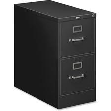 HON 212PP HON 210 Series Black Vertical Filing Cabinet HON212PP