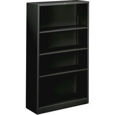 HON S60ABCP HON Brigade Fixed Bottom Shelf Black Steel Bkcases HONS60ABCP