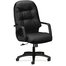 HON 2091SR11T HON 2090 Pillow-Soft Series Leather Executive High-Back Swivel/Tilt Chair HON2091SR11T