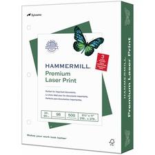 HAM 107681 Hammermill 3-Hole Punched Laser Print Paper HAM107681