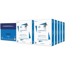 """Hammermill Tidal MP Paper - Letter - 8 1/2"""" x 11"""" - 20 lb Basis Weight - Recycled - 10% Recycled Content - 92 Brightness - 5000 / Carton - White"""