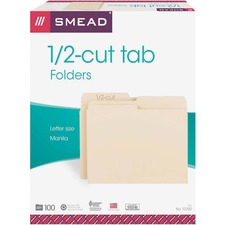 SMD 10320 Smead 1/2 Cut Top Tab Manila File Folders SMD10320