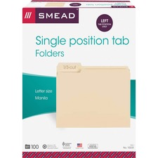 SMD 10331 Smead 1/3 Cut Manila File Folders SMD10331