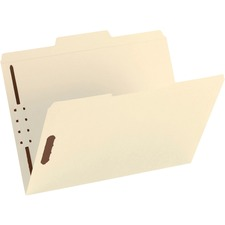 "Smead Fastener Folder - Letter - 8.5"" x 11\"" - 1/3 Cut Tab on Assorted Position - 0.75\"" Expansion - 2 Fastener - 50 / Box - 11pt. - Manila"