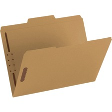 "Smead Fastener File Folders - Letter - 8 1/2"" x 11"" Sheet Size - 3/4"" Expansion - 2 x 2K Fastener(s) - 2"" Fastener Capacity for Folder - 1/3 Tab Cut - Assorted Position Tab Location - 11 pt. Folder Thickness - Kraft - Kraft - Recycled - 50 / Box"