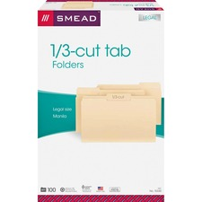 SMD 15330 Smead 1/3 Cut Manila File Folders SMD15330