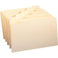 SMD 15350 Smead 1/5 Cut Single Ply Manila File Folders SMD15350