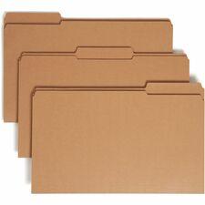 SMD 15734 Smead Kraft Reinforced 1/3 Cut Tab File Folders SMD15734