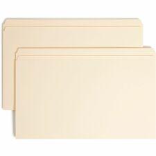 SMD 19510 Smead Straight Cut Tab File Folders w/ Fasteners SMD19510