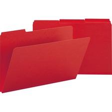 SMD 22538 Smead 1/3 Cut Colored Pressboard Tab Folders SMD22538