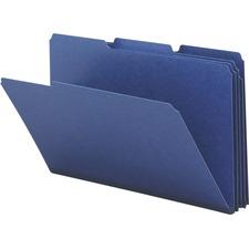 SMD 22541 Smead 1/3 Cut Colored Pressboard Tab Folders SMD22541