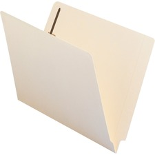 "Smead End Tab Fastener Folder - Letter - 8.5\"" x 11\"" - Straight Cut Tab - 0.75\"" Expansion - 2 Fastener - 2\"" Capacity - 50 / Box - 11pt. - Manila"