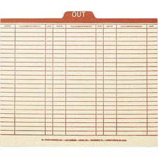 SMD 51910 Smead Manila Top Tab Charge-Out Record Guides SMD51910