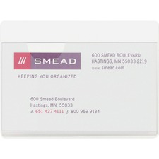 Smead Self-Adhesive Poly Pocket - Rectangular - Poly - 100 / Box - Clear
