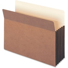 """Smead TUFF® Pocket File Pockets - Letter - 8 1/2"""" x 11"""" Sheet Size - 1200 Sheet Capacity - 5 1/4"""" Expansion - 11 pt. Folder Thickness - Recycled - 10 / Box"""