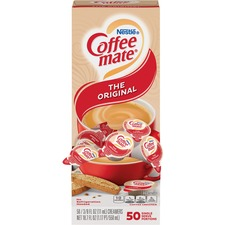 Nestlé® Coffee-mate® Coffee Creamer Original - liquid creamer singles - Original Flavor - 0.38 fl oz (11 mL) - 50/Box - 1 Serving