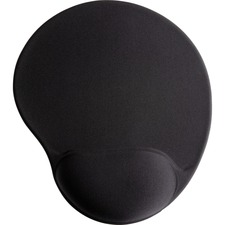 "Compucessory Gel Mouse Pads - 9"" x 10"" x 1"" Dimension - Black - Gel"