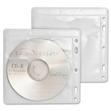 CCS 22290 Compucessory Double-Pocket Punched CD/DVD Sleeves CCS22290