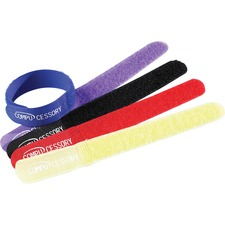 Compucessory Computer Cable Ties - Cable Tie - Assorted - 10 Pack