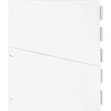 SPR 02074 Sparco Ring Binder Pocket Tab Dividers w/ Pocket SPR02074