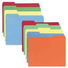 SPR 42004 Sparco 1/3 Cut Colored Letter Size File Folders SPR42004