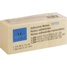 SPR 19772 Sparco Premium Yellow Adhesive Notes SPR19772