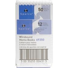 SPR 69350 Sparco Wirebound Memo Books SPR69350