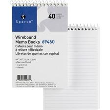 SPR 69460 Sparco Wirebound Memo Books SPR69460