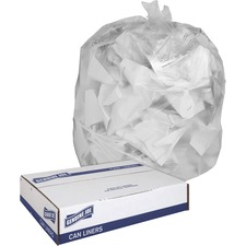 GJO 01012 Genuine Joe Clear Trash Can Liners GJO01012