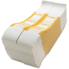 SPR BS1000WK Sparco White Kraft ABA Bill Straps SPRBS1000WK