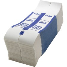 SPR BS100WK Sparco White Kraft ABA Bill Straps SPRBS100WK