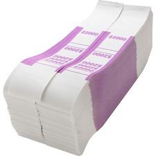 SPR BS2000WK Sparco White Kraft ABA Bill Straps SPRBS2000WK