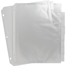 SPR 74161 Sparco Top-Loading Sheet Protectors w/Index Tabs SPR74161