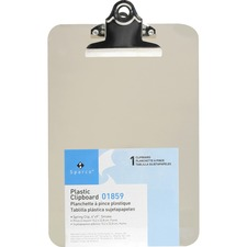 SPR 01859 Sparco Transparent Molded Plastic Clipboards  SPR01859