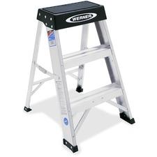 WER 150B R D Werner 2' Aluminum Step Stool WER150B
