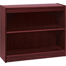 LLR 60070 Lorell Panel End Mahog. Hardwood Veneer Bookcases LLR60070