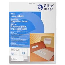 ELI 26002 Elite Image White Mailing/Address Laser Labels ELI26002