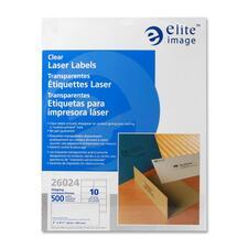 ELI 26024 Elite Image Clear Address Laser Labels ELI26024