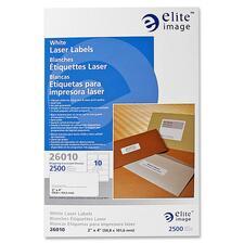 ELI 26010 Elite Image White Mailing/Address Laser Labels ELI26010