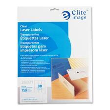 ELI 26021 Elite Image Clear Address Laser Labels ELI26021