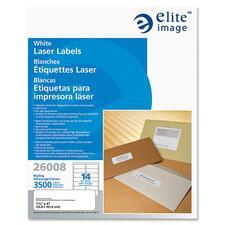 ELI 26008 Elite Image White Mailing/Address Laser Labels ELI26008