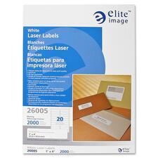 ELI 26005 Elite Image White Mailing/Address Laser Labels ELI26005