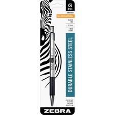ZEB 41311 Zebra G301 Gel Retractable Roller Ball Pen ZEB41311
