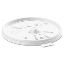 Dart Lift-n-Lock Coffee Cup White Lids - Round - Plastic - 1000 / Carton - White