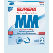 Eureka MM Replacement Dust Bags - White