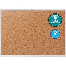 Quartet Aluminium Frame Bulletin Boards with Brackets - 4ft x 6ft - Cork Surface - Aluminum Frame - Brown