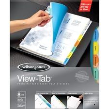WLJ 55567 Acco/Wilson Jones Sq. Multi View-Tab Transp Dvders WLJ55567