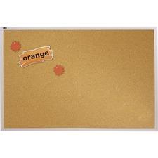 Quartet Aluminum Frame Natural Cork Board - 6ft x 4ft - Cork Surface - Aluminum Frame